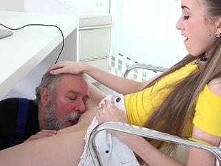 Aged goes juvenile - good vlada splits open her l...